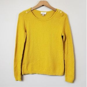 Ann Taylor LOFT Mustard Yellow Sweater